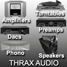 thrax audio products spartacus amplifier, speakers, preamplifier